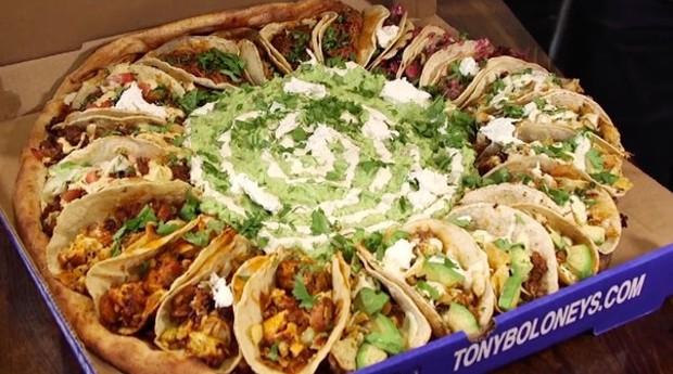 Pizza de taco: México e Itália em um lugar só (Foto: Reprodução)