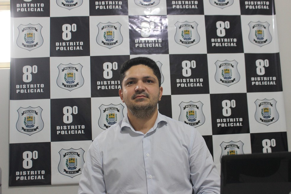 Delegado Ricardo Moura, titular do 8º Distrito Policial (8º DP) — Foto: Lucas Marreiros/G1