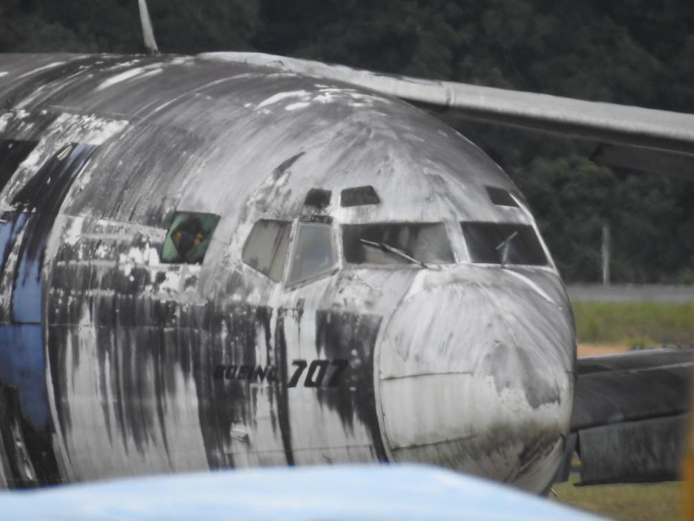 Aviões são dos modelos Boeing 707-300 e 737-200, DC-8 F, Learjet 35, Cessna 210, ATR-42 e Citation-J2. — Foto: Patrick Marques/G1 AM