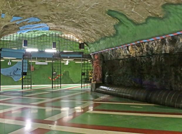 Metrô da Suécia tem a maior galeria de arte do mundo (Foto: Thinkstock)