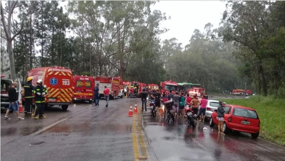 Acidente deixou mortos e feridos em Ibirama â?? Foto: NSC TV/Divulgação