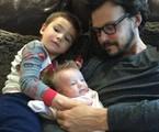 Guilherme Berenguer e os filhos, Sebastian e Rebecca | Arquivo pessoal