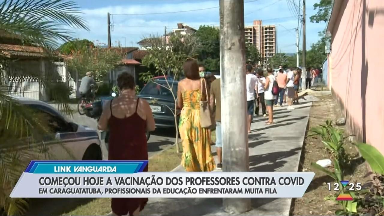 Caraguatatuba tem fila na vacinação contra Covid em professores