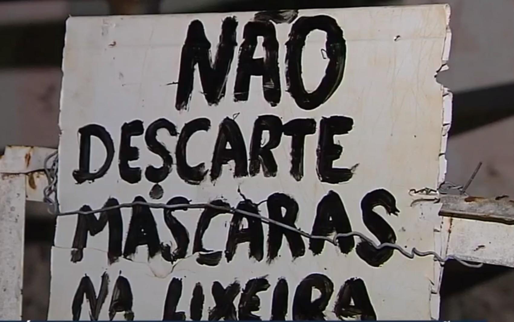 Moradores reclamam de luvas e máscaras descartadas no chão próximo ao Hospital de Campanha de Goiânia