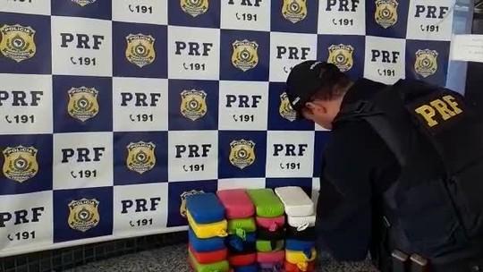 PRF apreende 30 kg de pasta base de cocaína embaladas em balões em Minas