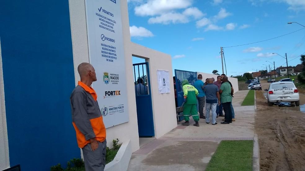 Ecoponto fica no bairro da Santa Lúcia, em Maceió, Alagoas — Foto: Abdias Martins/TV Gazeta