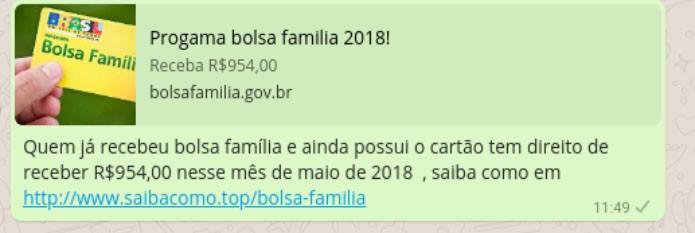 Golpe do Bolsa Família atrai 600 mil vítimas no WhatsApp