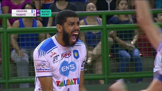 Vôlei Taubaté vence Cruzeiro fora de casa e larga na frente na semifinal da Superliga