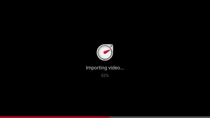 Microsoft Hyperlapse Mobile fará uma importação do vídeo antes da edição (Foto: Reprodução/Elson de Souza)