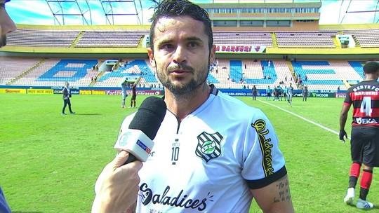 """Capitão do Figueirense, Zé Antônio avalia ponto conquistado: """"Sabia que ia ser um jogo difícil"""""""
