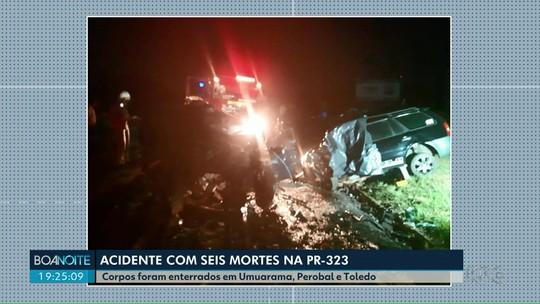 Enterradas as vítimas do acidente que matou seis pessoas