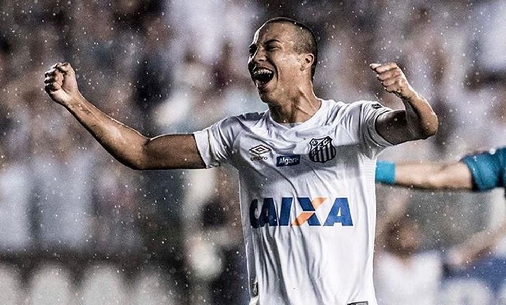 Santos x Atlético-PR Kaio Jorge — Foto: Reprodução/Instagram