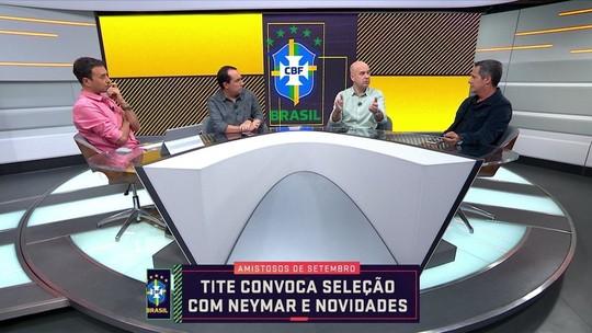 """Seleção SporTV discute convocação de Neymar: """"É passar a mão na cabeça"""", diz Cereto"""