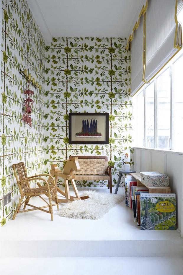 Décor do dia: sala infantil com papel de parede estampado (Foto: RACHEL WHITNING)