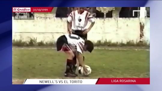"""Com fim anunciado, revista """"El Gráfico"""" tem vídeo-relíquia de Messi jogando aos 12"""