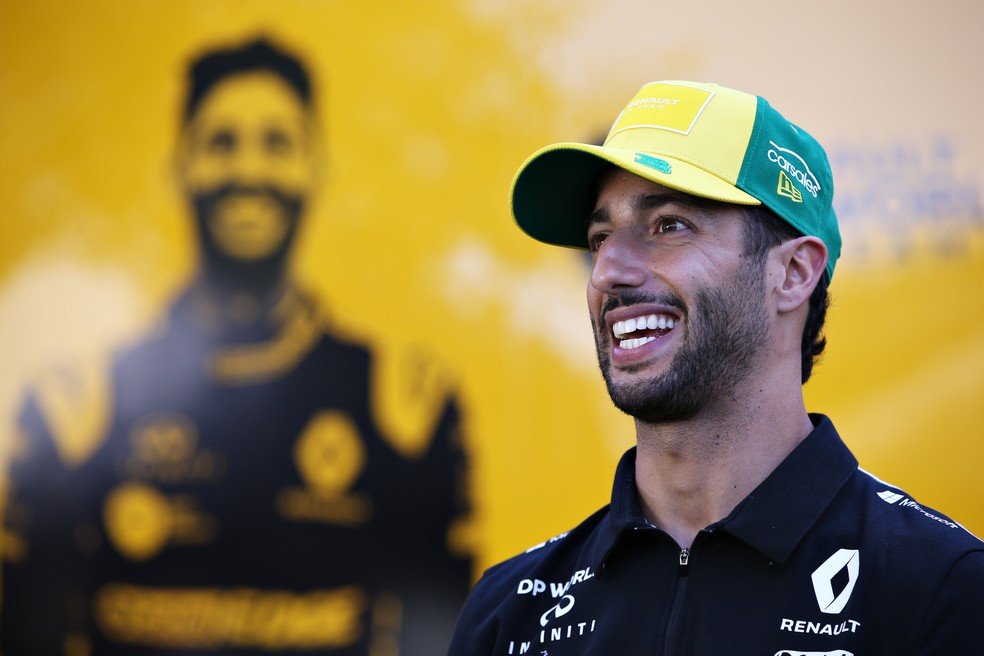 Daniel Ricciardo é piloto da Renault desde a temporada 2019 — Foto: Getty Images