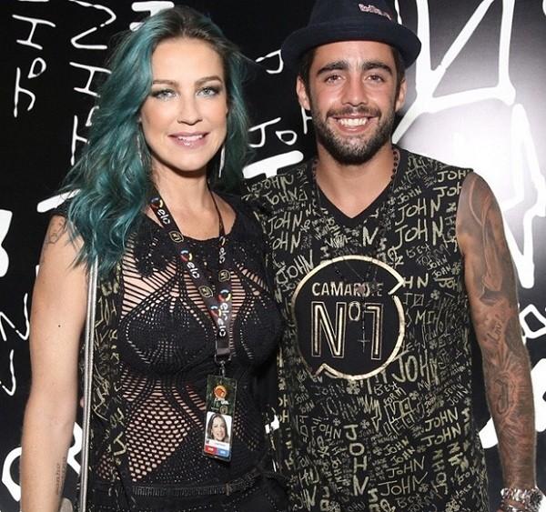 Luana Piovani e Pedro Scooby na Sapucaí nas Campeãs  (Foto: Foto: Manuela Scarpa/Brazil News)