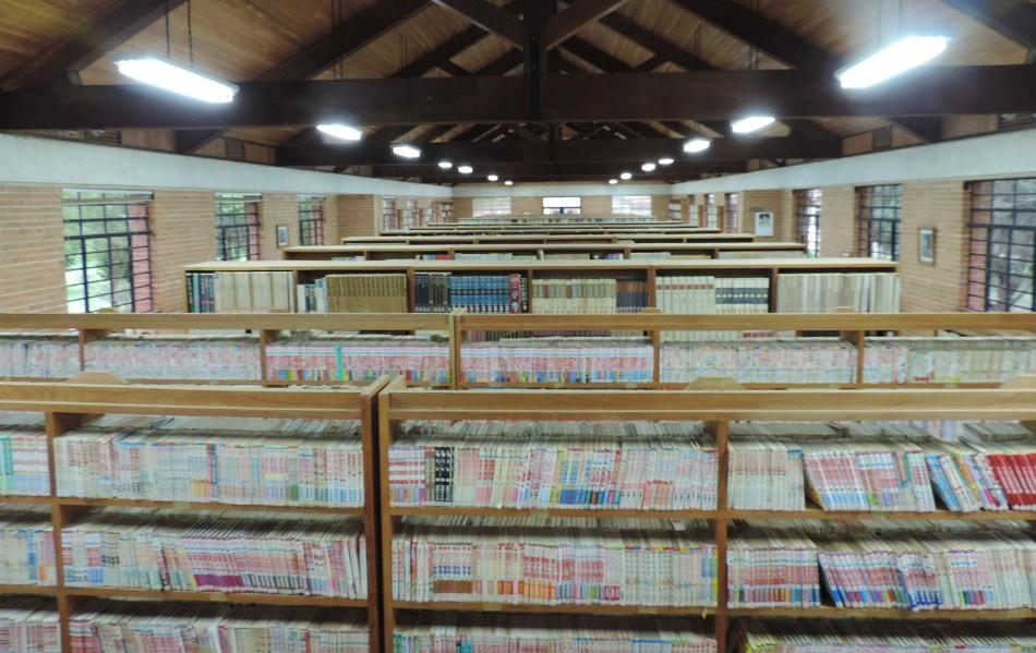 Biblioteca com mais de 70 mil títulos preserva cultura do país sede das Olimpíadas no interior paulista