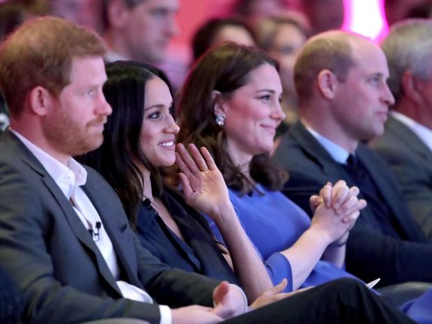 Príncipe Harry, Meghan Markle, Kate Middleton e príncipe William (Foto: Getty)