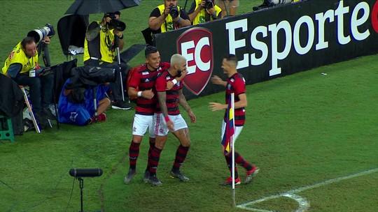 Veja os gols da vitória do Flamengo sobre o Madureira no Maracanã
