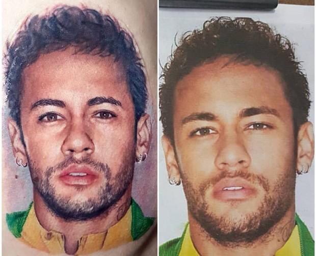 Tatuagem realista de Neymar  (Foto: Reprodução/Instagram)
