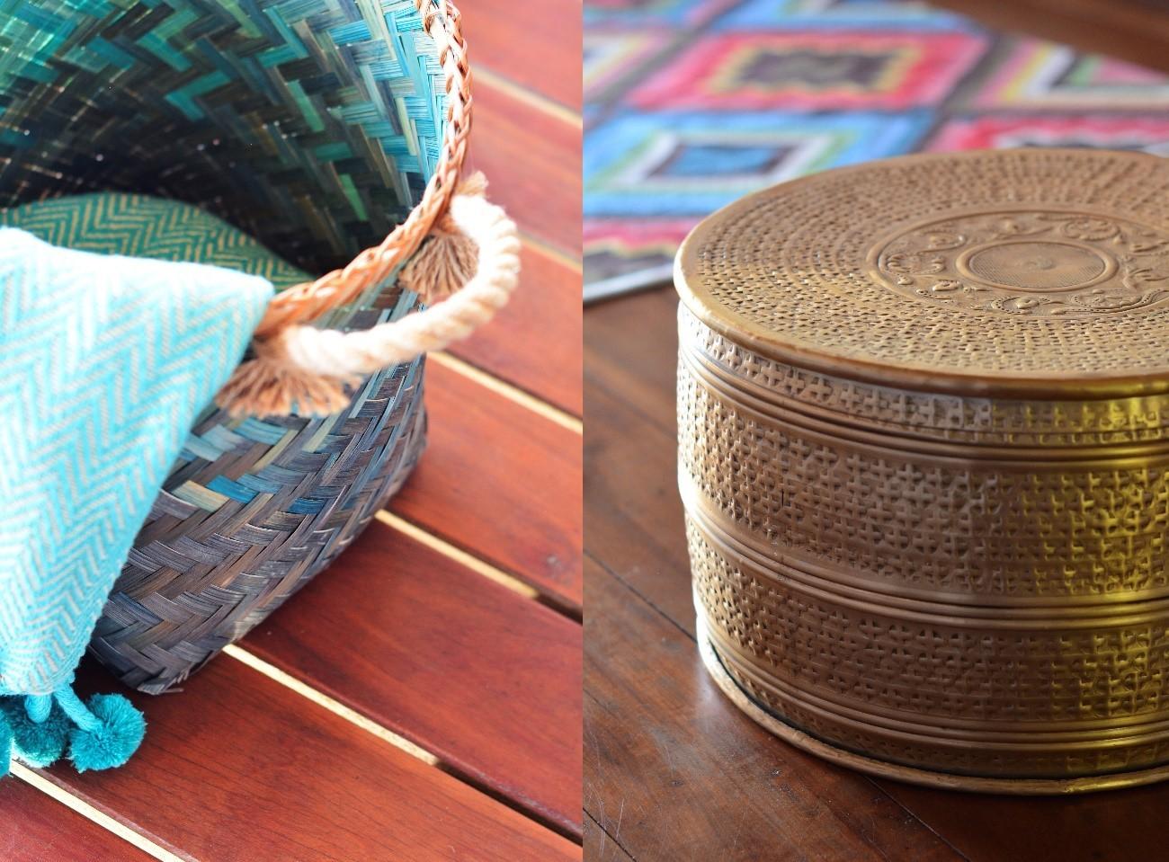 Cesto e peça metálica da nova coleção da Camicado  (Foto: Divulgação)