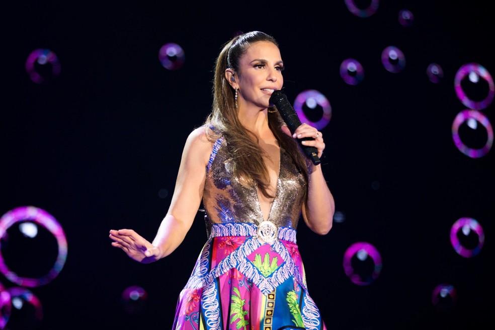Ivete Sangalo canta duas lambadas no repertório do show 'Live experience' — Foto: Rafa Mattei / Divulgação