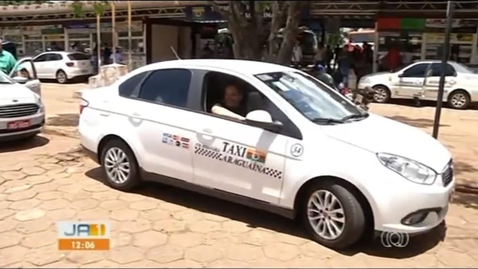 Táxis de Araguaína terão que instalar taxímetros — Foto: Reprodução/TV Anhanguera