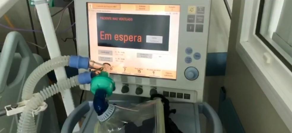Empresa que abastece a Grande Florianópolis registrou aumento de 25% no consumo de oxigênio — Foto: NSC TV/Reprodução