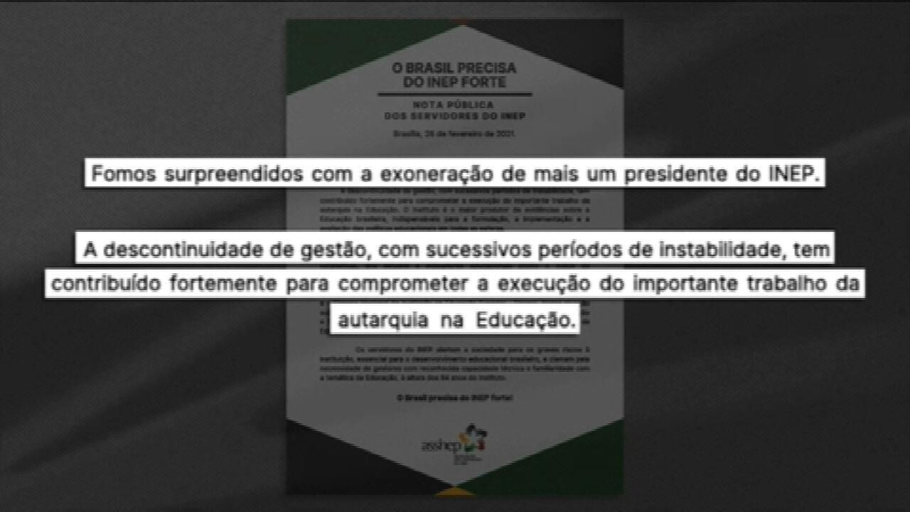 Governo federal exonera presidente do Inep