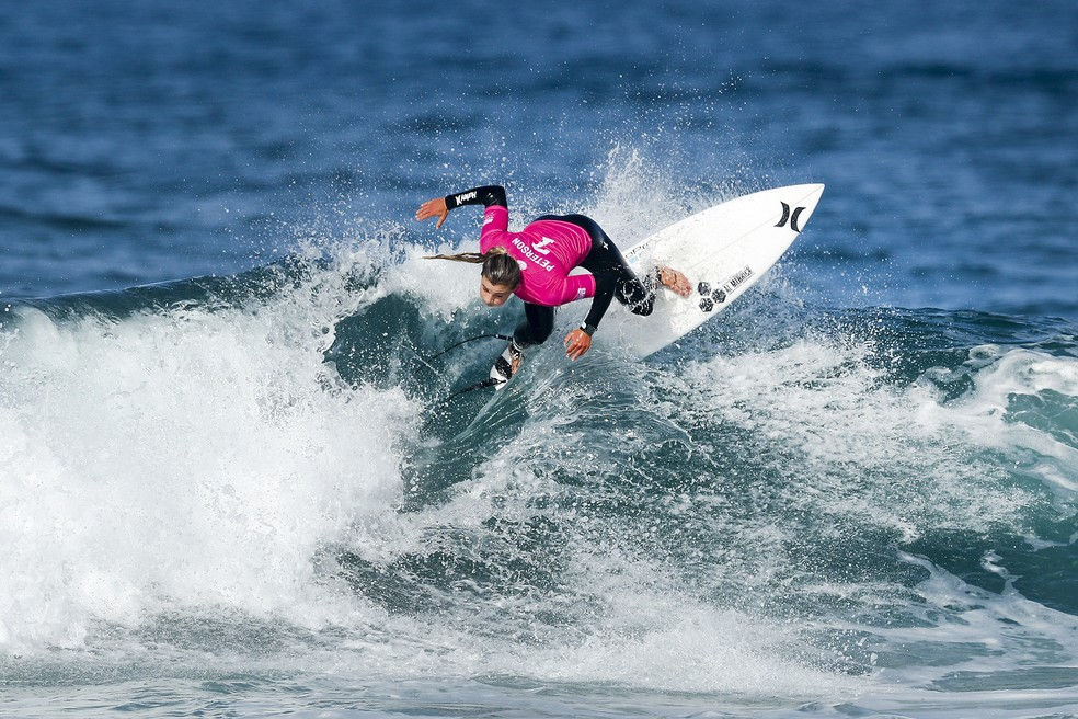 Lakey Peterson venceu Silvana Lima na quarta fase em Portugal (Foto: WSL)