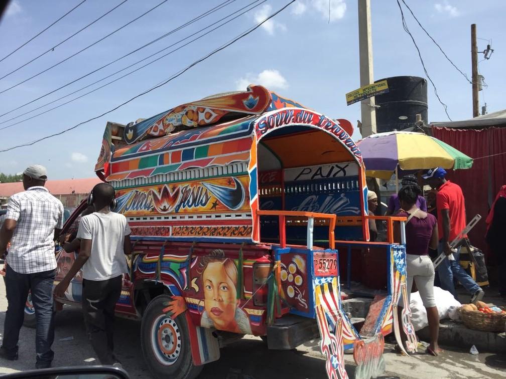 Tap Tap em Porto Príncipe (Foto: Tahiane Stochero/G1)