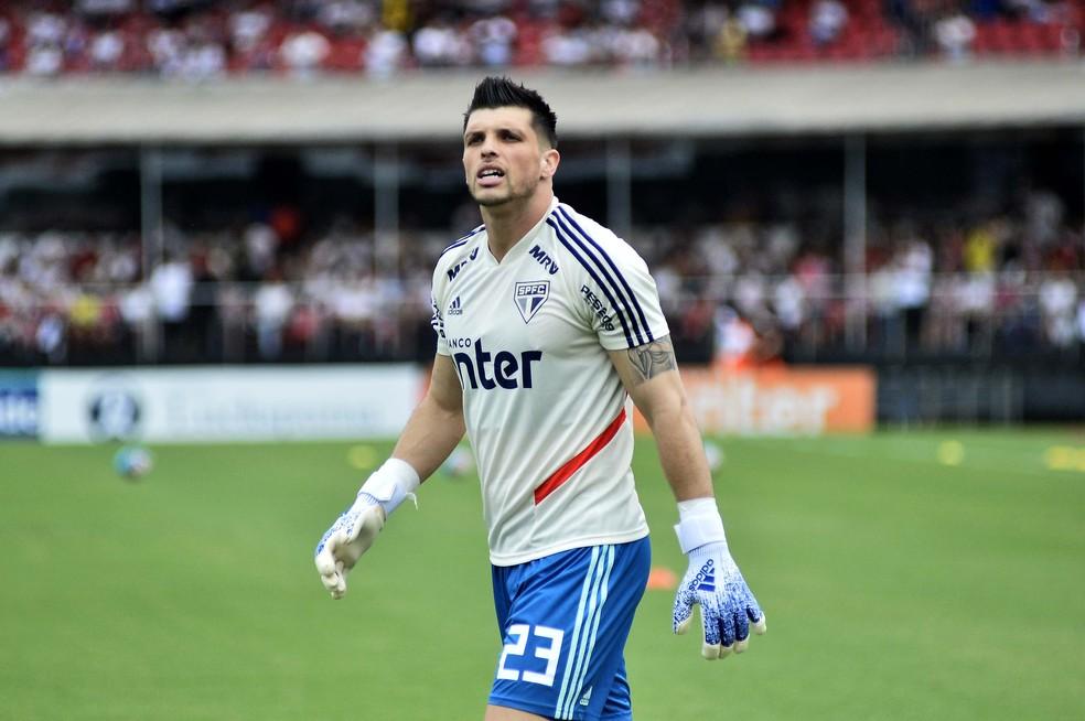 Tiago Volpi, do São Paulo — Foto: Marcos Ribolli
