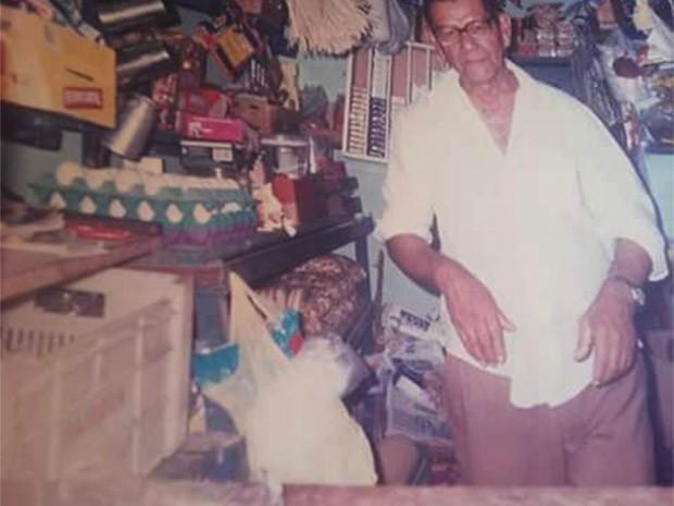 João Benedito Gomes foi baleado dentro do mercadinho que ele próprio construiu (Foto: Cedida/arquivo da família)