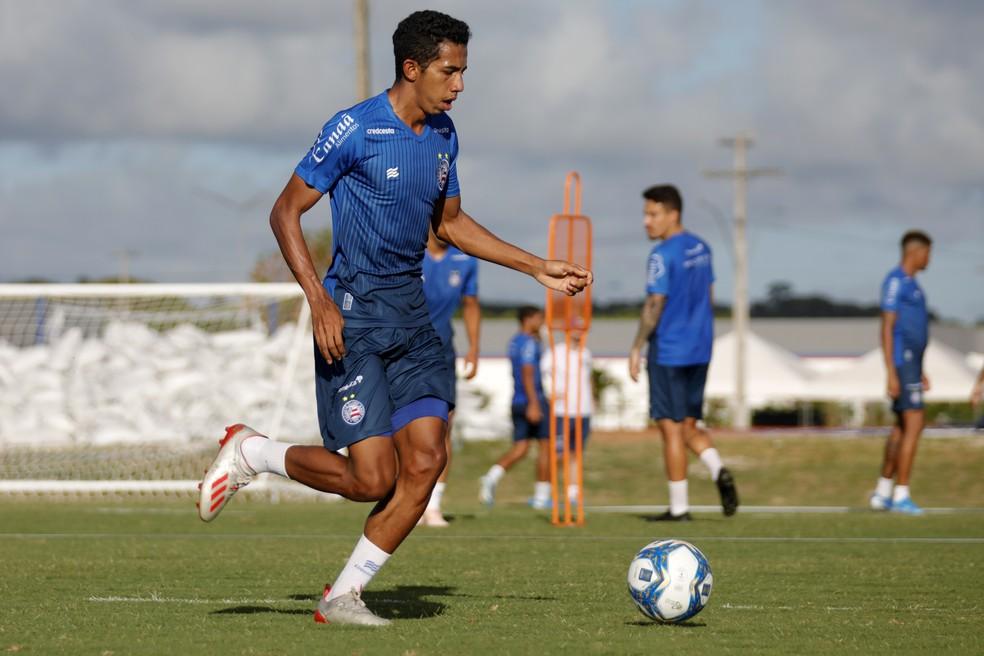 Fessin virou titular do Bahia com Mano Mezes — Foto: Felipe Oliveira / EC Bahia / Divulgação