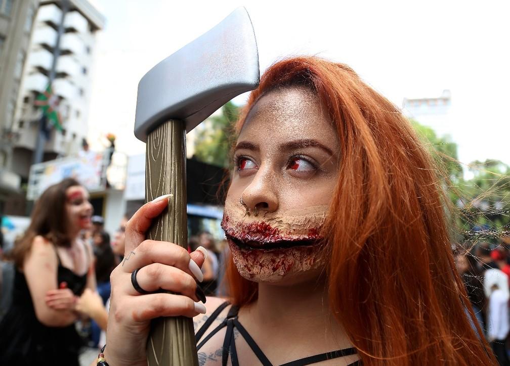 Érica Souza se inspirou em filmes de terror para a Zumbie (Foto: Giuliano Gomes/PR Press)