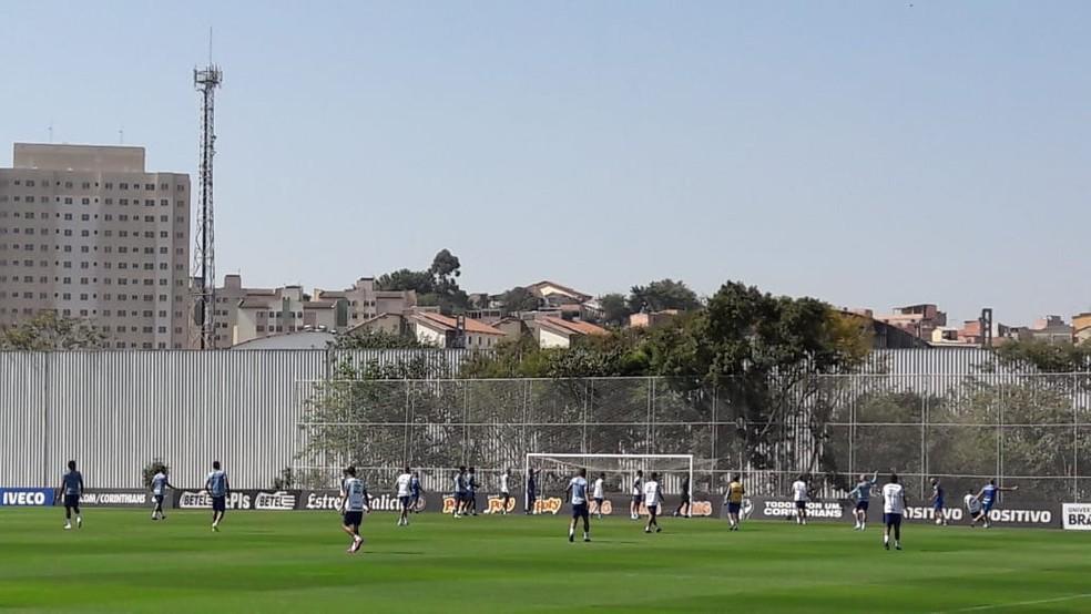 Treino do Grêmio no CT Joaquim Grava — Foto: Alexandre Alliatti