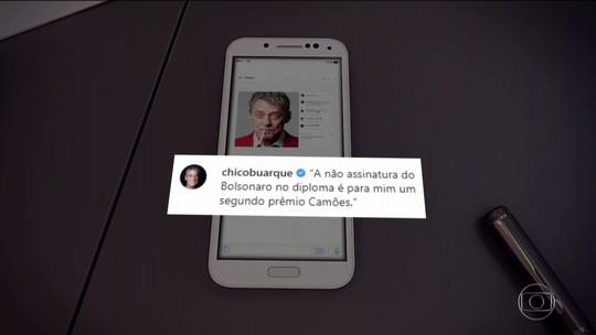 Prêmio Camões será entregue a Chico Buarque mesmo sem Bolsonaro assinar condecoração