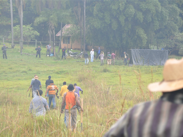 Indígenas têm até sábado para deixar fazenda em Sidrolândia, MS (Foto: Fabiano Arruda/G1 MS)