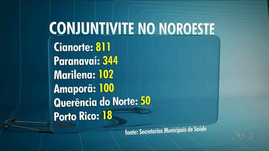 Ao menos seis cidades do noroeste do Paraná registram surto de conjuntivite, diz Saúde