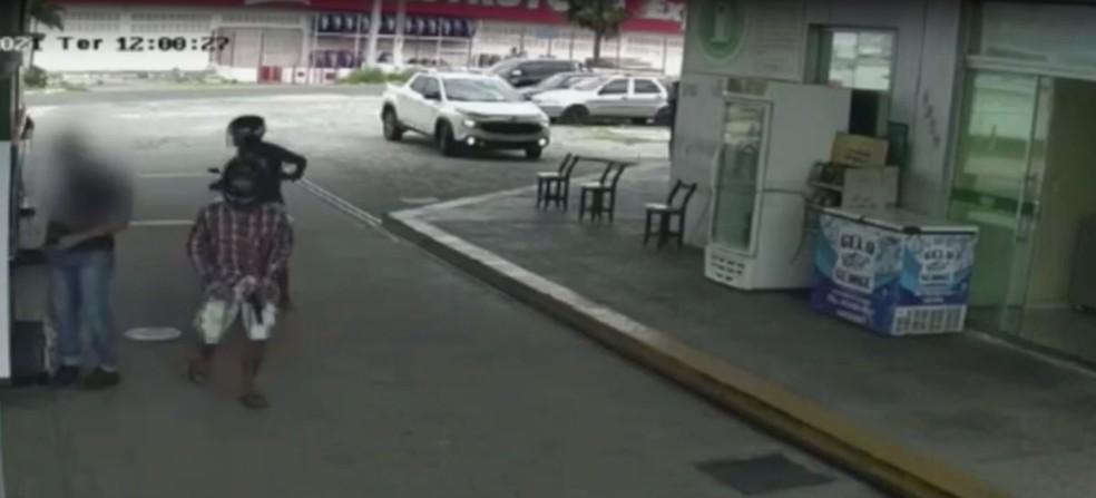 Posto de combustíveis foi assaltado duas vezes em Caicó no mesmo dia — Foto: Reprodução