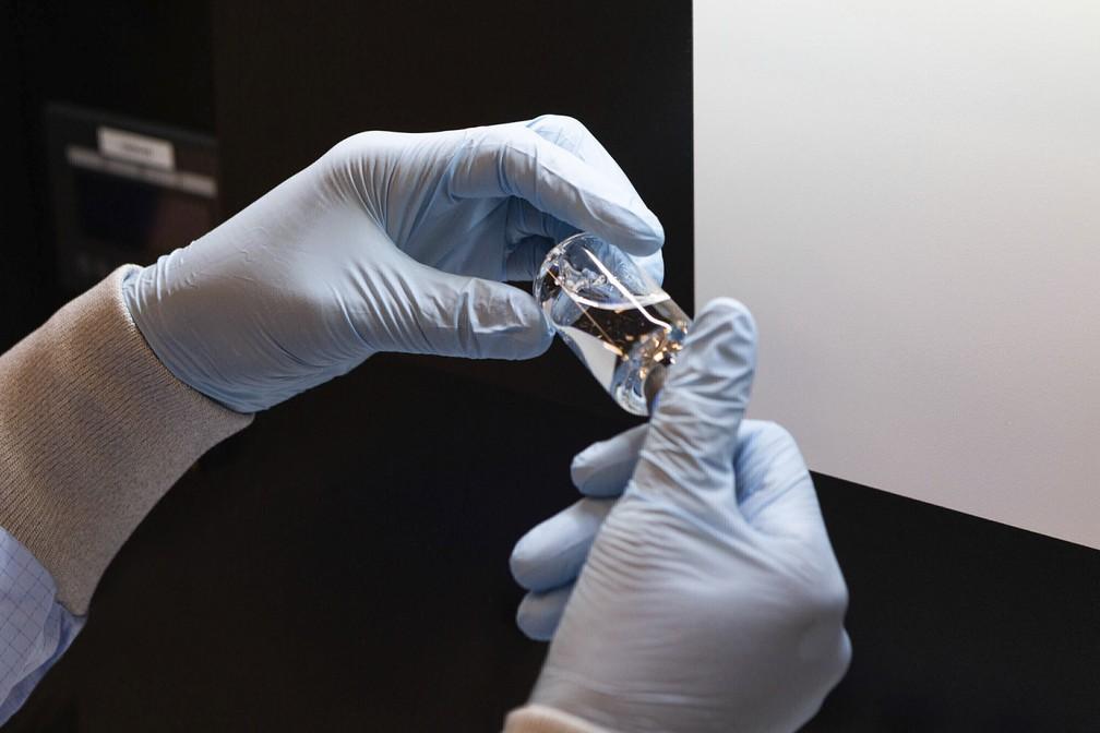 Medicamento Remdesivir produzido em laboratório nos EUA — Foto: Gilead Sciences via AP