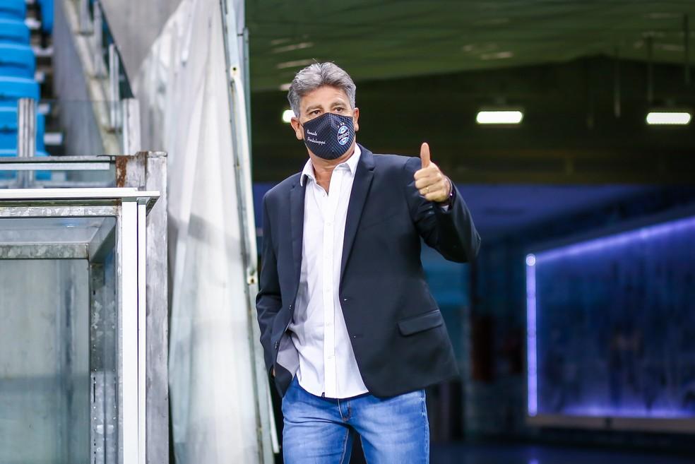 Renato Portaluppi, técnico do Grêmio — Foto: Lucas Uebel/Grêmio