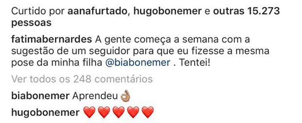 Comentários em post de Fátima Bernardes (Foto: Reprodução/Instagram)