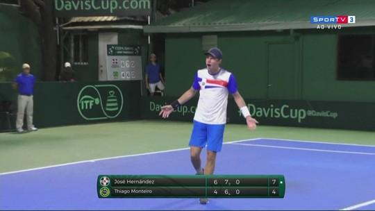 Pontos finais de Jose Hernández 2 x 0 Thiago Monteiro pela Copa Davis