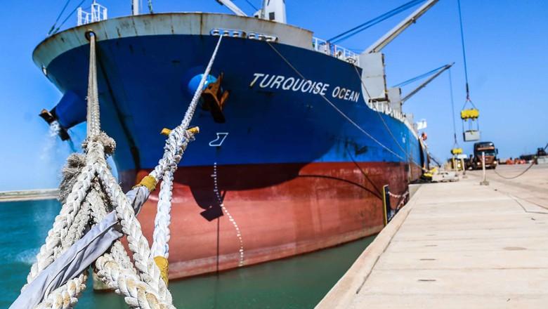 navio-porto do açu-RJ (Foto: Reprodução/Porto do Açu)