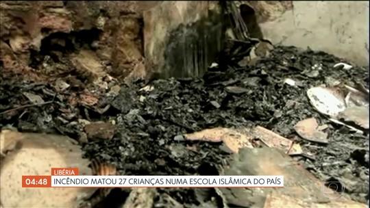 Incêndio mata 27 crianças numa escola islâmica na Libéria