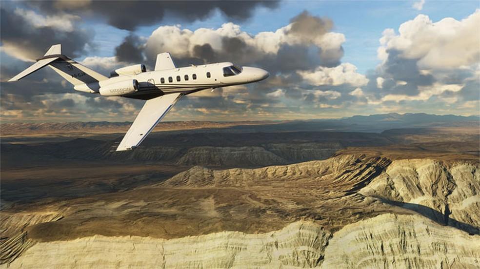 Microsoft Flight Simulator permite que jogadores voem por todo o mundo em diversas aeronaves — Foto: Reprodução/Xbox Game Store