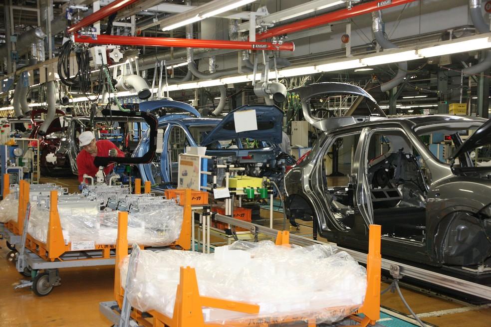 Fábrica da Nissan no Japão (Foto: Divulgação)