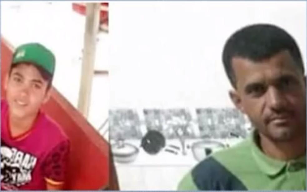 Pai e filho morreram afogados na Bahia — Foto: Reprodução/TV Sudoeste